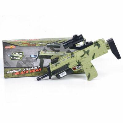 Black Bear terepmintás gépfegyver fénnyel