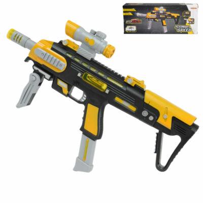 Sonic Speed gépfegyver sárga-szürke színben fénnyel