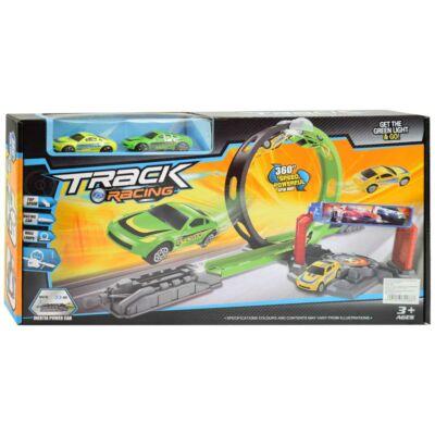 Track Racing versenypálya hurokkal és két autóval
