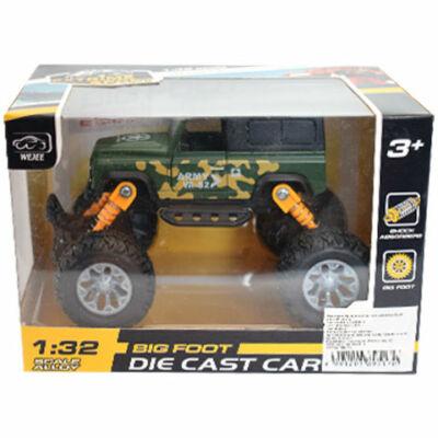 Off-Road hátrahúzós szürke Land Rover terepjáró 1/32
