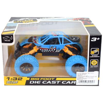 Off-Road hátrahúzós kék rally autó 1/32