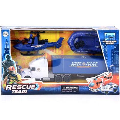 Rescue Team rendőrségi játék szett gumicsónakkal