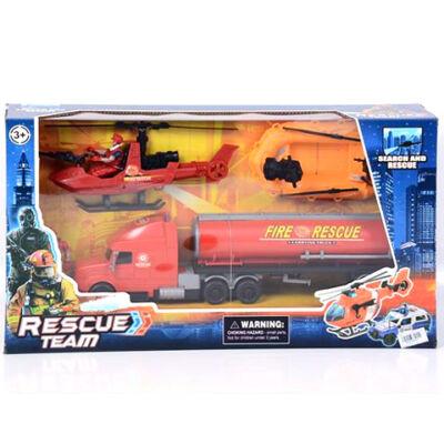 Rescue Team tűzoltósági játék szett gumicsónakkal