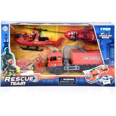Rescue Team tűzoltósági játék szett járművekkel
