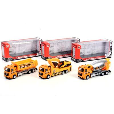 Építési teherautók fénnyel, háromféle változatban
