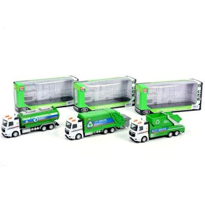 Városi hátrahúzós teherautók háromféle változatban