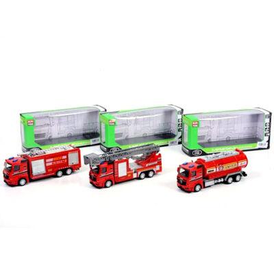 Tűzoltósági hátrahúzós teherautók háromféle változatban