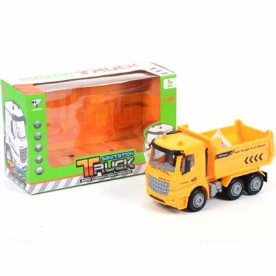 Sárga billencs teherautó 17 cm
