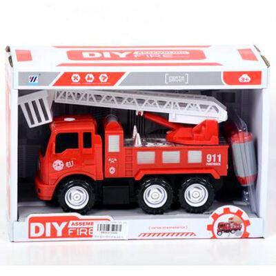 Szerelhető tűzoltóautó emelőkosárral 17 cm