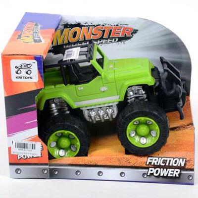 Off-Road zöld Jeep 17 cm
