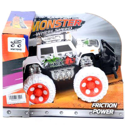 Off-Road fehér Hummer kisautó 17 cm