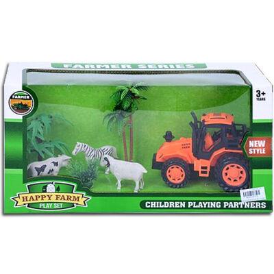 Happy Farm Traktor állatokkal