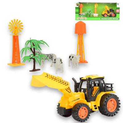 Happy Farm Tolólapos traktor állatokkal