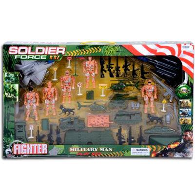 Soldier Force Katonai játékszett járművekkel