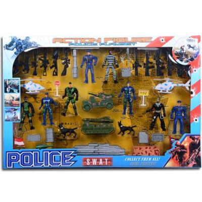 SWAT rendőrségi játékfigura szett