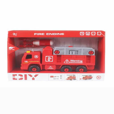 Szétszerelhető tűzoltóautó hanggal és szerszámokkal