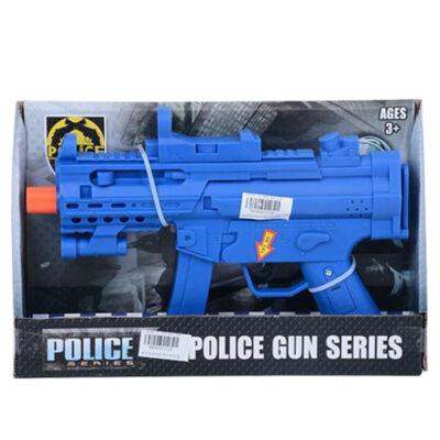 Rendőrségi gépfegyver hang effektekkel kék színben