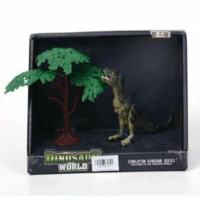 T-rex figura fával 12 cm