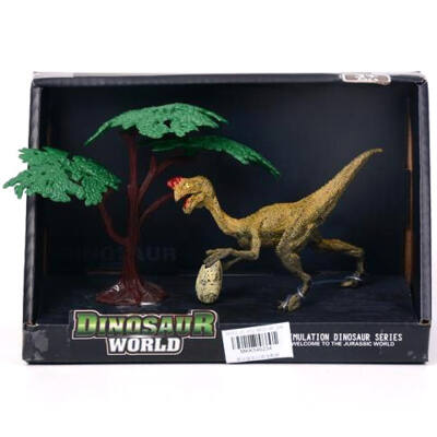 Dilophosaurus dinoszaurusz figura fával 15 cm