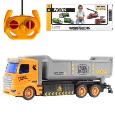 RC távirányítós kamion sárga-szürke színben 27 MHz