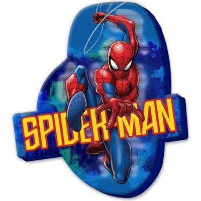 Pókember velúr forma díszpárna 35×22 cm