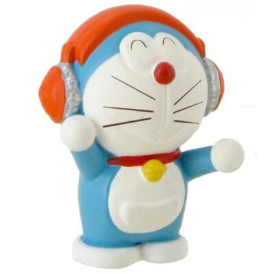 Doraemon zenét hallgat játékfigura