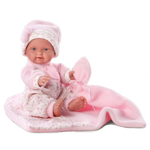 Rosa újszülött játékbaba rózsaszín takaróval 26 cm 6f1d486868